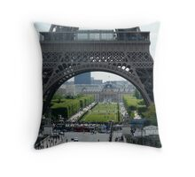 Paris Landmark Throw Pillow
