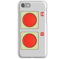 A B Buttons, NES controller pad. iPhone Case/Skin