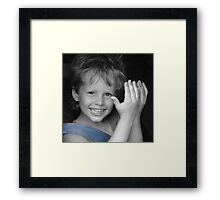 Because I love him... (Peek-a-boo) Framed Print