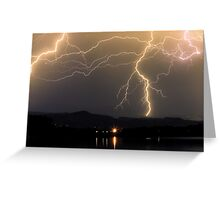 Rocky Mountain Foothills Lightning Storm Greeting Card