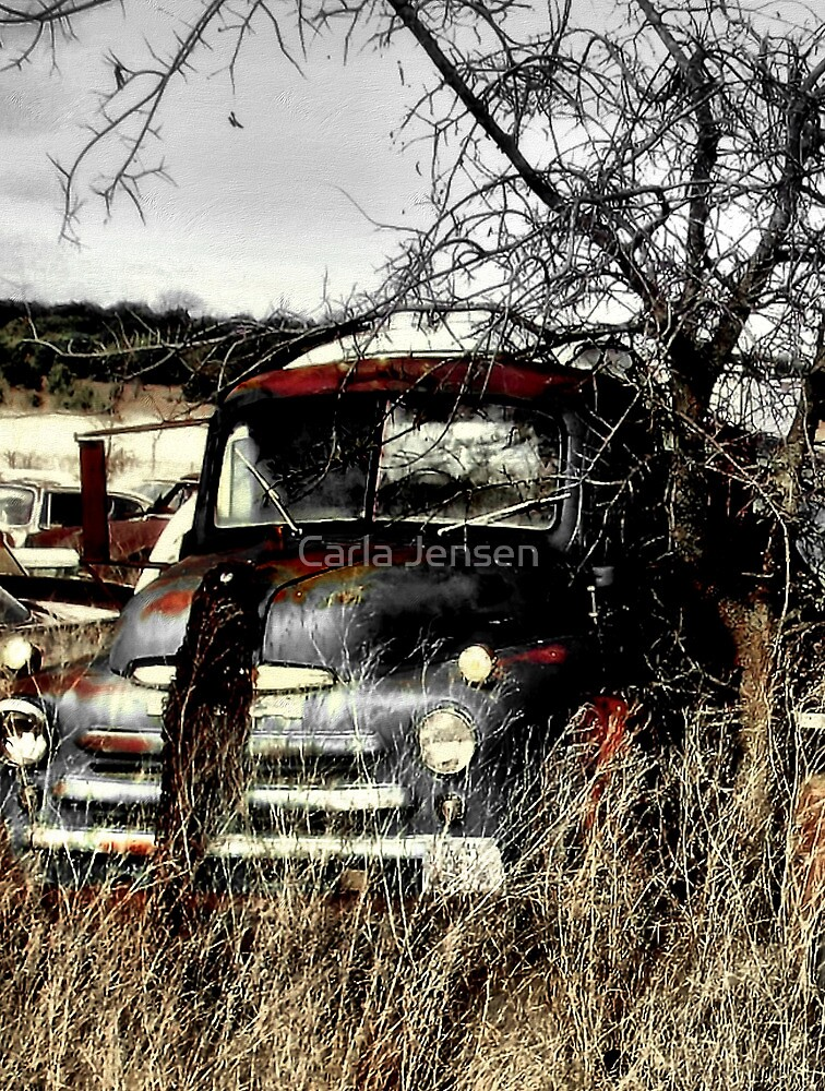 Ole Beater Truck ~ (BoneYard Series) by Carla Jensen