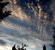 Holy Mackerel! Evening clouds. by Innpictime