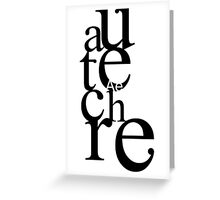 Autechre_BK Greeting Card