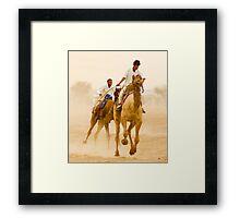 Camels of Rajasthan Framed Print