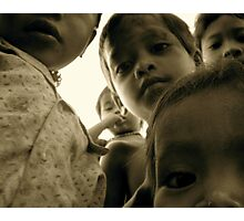 Camera Shy in Cambodia Photographic Print