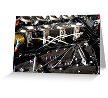 V8 DFV Cosworth Formula One engine Greeting Card