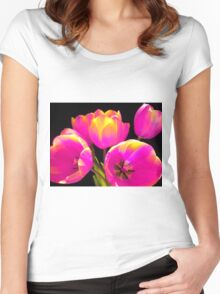 Colours Tulips Women's Fitted Scoop T-Shirt