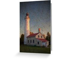 Cana Island Lighthouse ~ Experiment in Texture Greeting Card