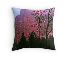 MOONRISE AT SUNSET,CATHEDRAL SPIRE Throw Pillow
