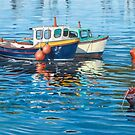 Two fishing boats by Freda Surgenor