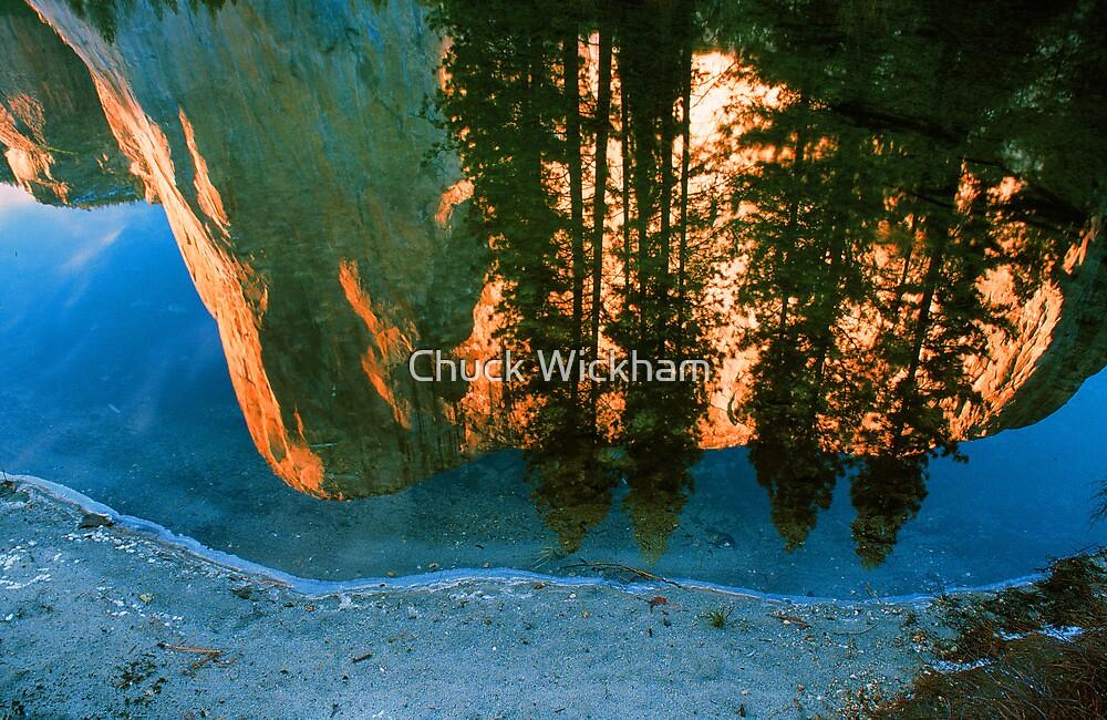 EL CAPITAN REFLECTED IN MERCED RIVER by Chuck Wickham