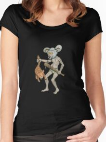 Killer Mouse Mascot Women's Fitted Scoop T-Shirt