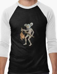 Killer Mouse Mascot Men's Baseball ¾ T-Shirt