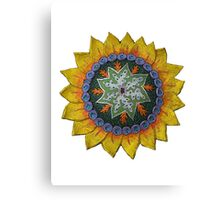 Sun Sunflower Mandala Original Print Design Canvas Print