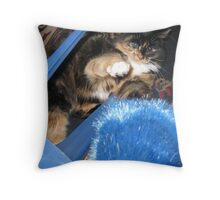 Must Fight Blue Things Throw Pillow