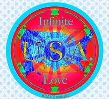 Infinite Love Series-USA mandala of Love by bravemandala