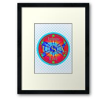 Infinite Love Series-USA mandala of Love Framed Print