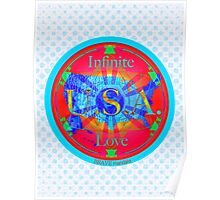 Infinite Love Series-USA mandala of Love Poster
