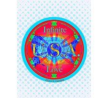 Infinite Love Series-USA mandala of Love Photographic Print