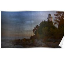 Cana Island Lighthouse ~ Experiment in Texture Poster