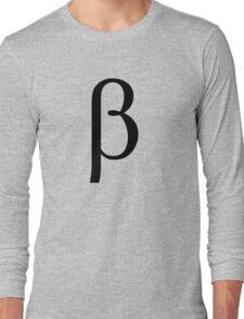 Beta. Greek alphabet. Long Sleeve T-Shirt
