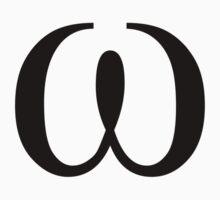 Omega. Greek alphabet. Baby Tee