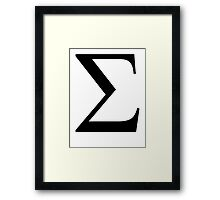 Sigma. Greek alphabet. Framed Print