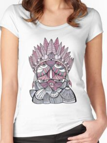 """Pueo"" Multidimensional Owl Women's Fitted Scoop T-Shirt"