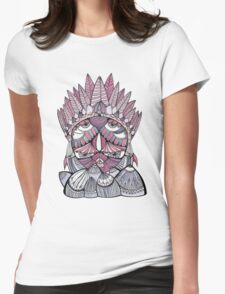 """Pueo"" Multidimensional Owl Womens Fitted T-Shirt"