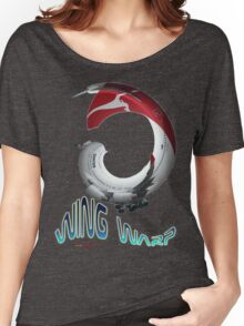 QANTAS Boeing 747-400 VH-OJO Wingwarp T-shirt Design Women's Relaxed Fit T-Shirt
