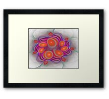 'Light Flame Abstract 168' Framed Print