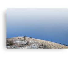Minimal winter hill. Canvas Print