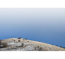 Minimal winter hill. Photographic Print