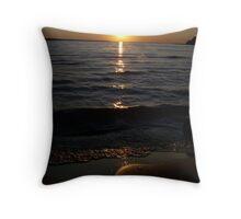 Lake Michigan at Sunset Throw Pillow