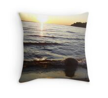 Lake Michigan @ Sunset Throw Pillow