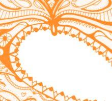 Orange Faberge Egg Henna Sticker