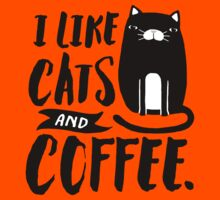 I Like Cats and Coffee Kids Clothes