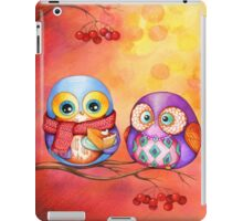 Thanksgiving Owls with Pumpkin Pie iPad Case/Skin