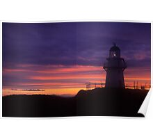 Waipapa point lighthouse  Poster