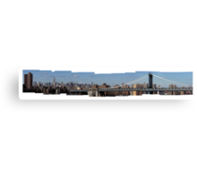 Manhattan and Manhattan Bridge Canvas Print