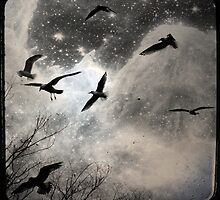 Celestial Seagulls by gothicolors