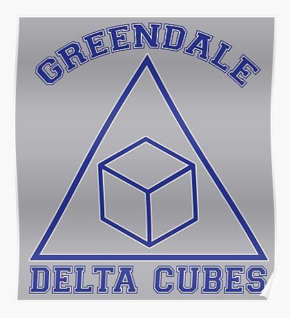 Greendale Delta Cubes Frat Poster