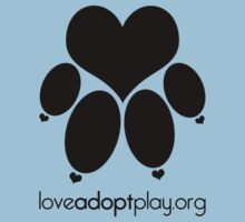 love paw (black) - loveadoptplay.org by hourevolution