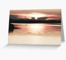 Surreal pearly peace. Greeting Card