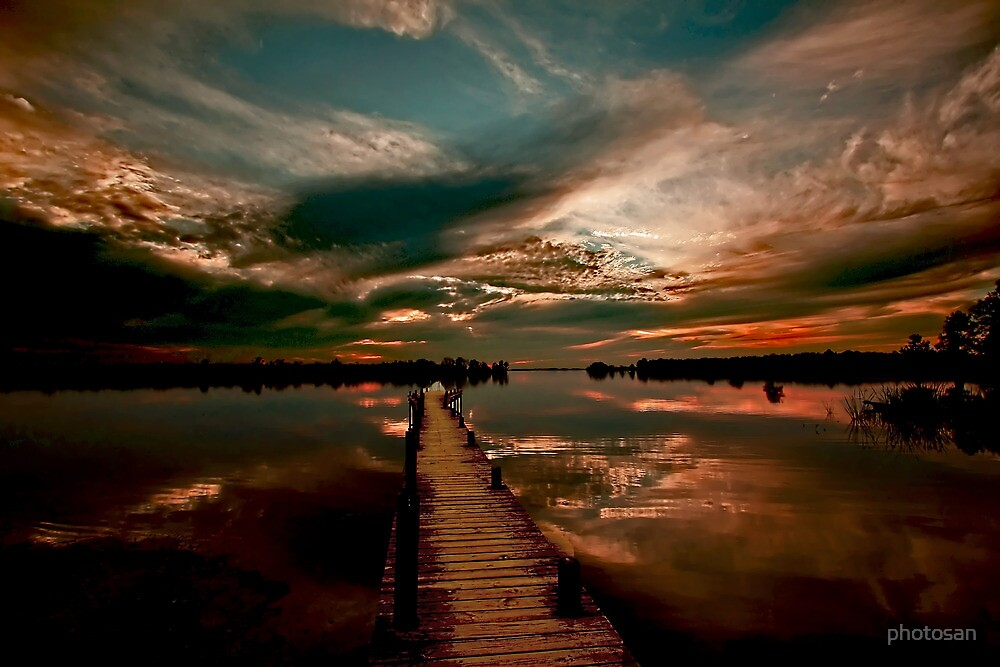Mirrored Sunset - Walkway To Heaven by photosan