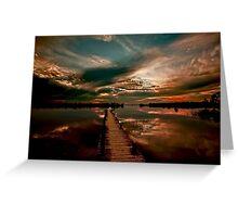Mirrored Sunset - Walkway To Heaven Greeting Card