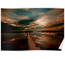 Mirrored Sunset - Walkway To Heaven Poster