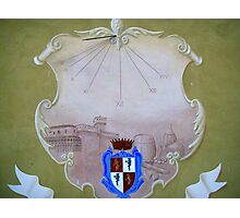 Sundial of the Castle Photographic Print