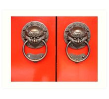 Chinese door handles Art Print