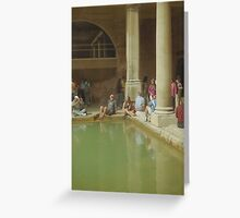 Visitors to the Roman Baths, Bath Greeting Card